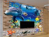 15 Foot Wall Mural Großhandel 3d Wallpaper Mural 3d Meeresboden Fisch Wandaufkleber Kinderzimmer Wanddekor Tattoos Baby Fisch Ozean Unterwasserwelt Tapete Wohnkultur Von