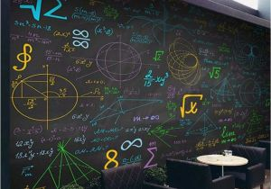 15 Foot Wall Mural Us $8 8 Off Mathematical formula Color Chalk Blackboard Background Wall Custom Large Indoor Wallpaper Mural 3d Photo Wall In Fabric & Textile