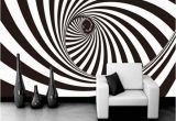 3d Abstract Wall Mural 3d Zebra Stripes Swirl Modern Abstract Wallpaper Mural