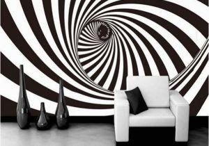 3d Abstract Wall Mural 3d Zebra Stripes Swirl Modern Abstract Wallpaper Mural
