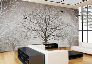 3d Abstract Wall Mural Retro Abstract Tree Branches Bird Murals Custom 3d Wallpaper Living Room sofa Tv Background Decor Mural Wall Paper Download Wallpaper