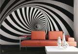 3d Abstract Wall Mural Wall Mural Wallpaper Grafic Retro 3d Design Burble Photo 360