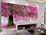 3d Big Tree Wall Murals for Living Room Large Mural Customized 3d Wallpaper Abstraction Painting with Flowers Tree Behind sofa Tv as Background In Living Room Bedroom
