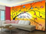 3d Effect Wall Mural Qualität Garantiert Print Mural Wall Full Tree Flowers