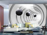 3d Effect Wall Mural Wall Mural Futuristic Tunnel