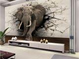 3d Elephant Wall Mural Großhandel Custom 3d Elephant Wandbild Personalisierte Giant