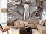 3d Elephant Wall Mural Increasing the Space with the Help Of Wallpapers