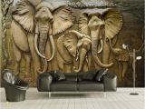 3d Elephant Wall Mural Us $8 85 Off Beibehang Custom Wallpaper 3d Embossed Golden Reliefs Elephant Modern Abstract Art Wall Painting Living Room Bedroom Wallpaper In