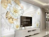 3d Embossed Wall Murals Custom Wallpaper for Walls Roll 3d Embossed Flower Modern Simple Living Room Tv Background Mural Wall Papers Home Decor Background
