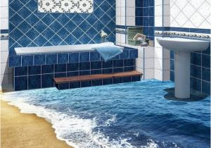 3d Floor Murals for Sale Beach Wave Floor Decals 3d Wallpaper Wall Mural Stickers Print