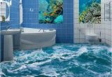 3d Floor Murals for Sale Custom 3d Floor Mural Wallpaper Sea Water Wave Bathroom 3d Floor