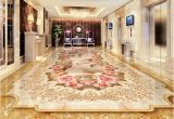 3d Floor Murals for Sale Custom 3d Floor Murals Imitation Marble Flower Pattern Luxury Living
