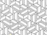 3d Geometric Design Coloring Pages Geometric Coloring Pages for Adults Az Coloring Pages