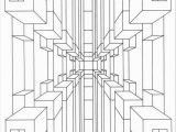 3d Geometric Design Coloring Pages Optical Illusion Coloring Pages Printable Enjoy Coloring