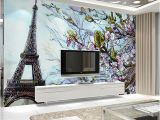 3d Mural Wall Hanging Custom Any Size 3d Poster Wallpaper Paris Eiffel tower Mural Wall
