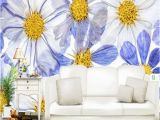 3d Murals On Walls Modern White Blue Wallpapers for Walls 3d Murals nordic Painting Wall Papers Home Decortion Flowers Wallpapers Living Room Mural Pc Wallpaper In Hd Pc