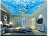 3d Ocean Wall Murals Us $9 96 Off 3d Wallpaper Custom 3d Ceiling Wallpaper Murals Beautiful Blue Ocean Water Dolphin Ceiling Murals 3d Living Room Photo Wallpaper W