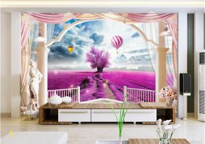3d Photo Wall Murals Custom 3d Wallpaper Mural Living Room sofa Tv Backdrop Mural Lavender Balloon Rome Balcony Picture Wallpaper Mural Sticker Home Decor High