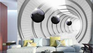 3d Wall Mural Painting Wall Mural Futuristic Tunnel