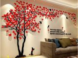 3d Wall Mural Stickers 3d Wall Decals Trees Wall Stickers Decor Acrylic Diy Tv