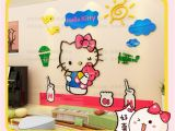 3d Wall Mural Stickers Hello Kitty Sunshine Bird Sky 3d Wall Decal Stickers Room Decor Nursery Bedroom Decoration Arcylic Mirror Surface
