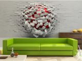 3d Wall Murals for Bedrooms Really Cool Wall Art – 3d Ball In Wall – A Unique Product by