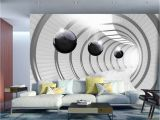 3d Wall Murals for Bedrooms Wall Mural Futuristic Tunnel