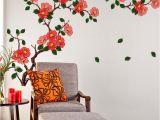 3d Wall Murals for Living Room India Stickerskart Multicolor Floral Branch sofa Living Room Wall Sticker