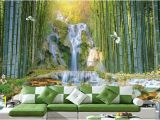 3d Waterfall Wall Mural Custom 3d Wall Murals Wallpaper Wall Painting Stereoscopic Zhulin Waterfall Water Park 3d Living Room Tv Backdrop Mural Pc Wallpaper Pc Wallpaper In