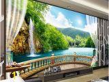 3d Waterfall Wall Mural Details About 3d 10m Wallpaper Bedroom Living Mural Roll