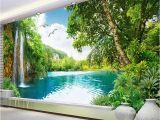 3d Waterfall Wall Mural Mural Wallpaper Waterfall Nature Landscape