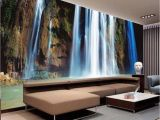 3d Waterfall Wall Mural Us $8 64 Off 3d Wall Stickers Cliff Water Falls Art Wall Mural Floor Decals Creative Design for Home Decor Waterfall Wallpaper Rolls W
