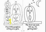 5 Little Pumpkins Sitting On A Gate Coloring Page Five Little Pumpkins Book Printable Halloween Pinterest