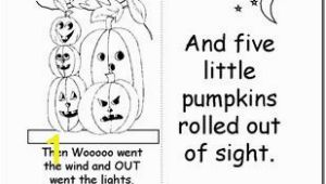 5 Little Pumpkins Sitting On A Gate Coloring Page Five Little Pumpkins Book Printable Halloween Pinterest
