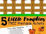 5 Little Pumpkins Sitting On A Gate Coloring Page Free Printable Activities for toddlers Lovely Five Little Pumpkins