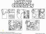 7 Days Of Creation Coloring Pages Dias De La Creacion Pagina De Colorear