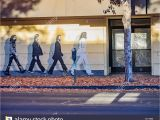 Abbey Road Wall Mural Liverpool Walking with the Beatles Stockfotos & Walking with the