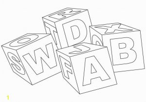 Abc Blocks Coloring Pages 13 Childrens Drawing Blocks for Free On Ayoqq