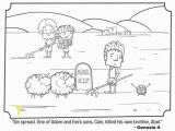 Abel and Cain Coloring Pages Cain and Abel Pre K Sunday School