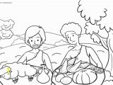 Abel and Cain Coloring Pages Kain Und Abel Ausmalen Cain and Abel Coloring Pages