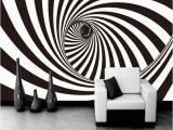 Abstract 3d Wall Murals 3d Zebra Stripes Swirl Modern Abstract Wallpaper Mural