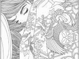Abstract Art Coloring Pages Bottom Right Corner is Art Nouveau
