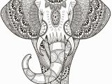 Abstract Elephant Coloring Pages for Adults Elephant Abstract Doodle Zentangle Paisley Coloring Pages Colouring