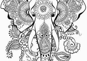 Abstract Elephant Coloring Pages for Adults Elephant Mandala Henna Coloring Page