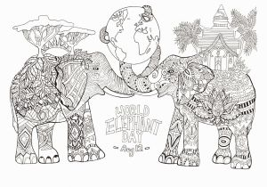 Abstract Elephant Coloring Pages for Adults New Coloring Pages for Adults Printable Animals