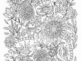 Abstract Flower Coloring Pages for Adults 9 Free Printable Adult Coloring Pages