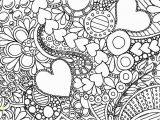 Abstract Flower Coloring Pages for Adults Hearts and Flowers