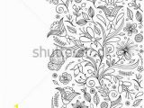 Abstract Flower Coloring Pages for Adults Vector Illustration Of Seamless Pattern with Abstract