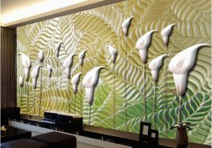 Abstract Wall Mural Designs Modern Abstract Art Wallpaper 3d Embossed Flowers Wall Murals