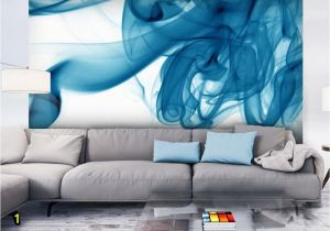 Abstract Wall Mural Designs Wall Mural Blue Smoke Modern Abstract Wall Murals